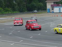 Jim Latham in the Volvo 122S at Mission Raceway